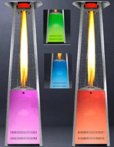 LED PYRAMID PATIO GAS HEATER